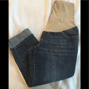 Indigo Blue cropped maternity jeans size medium